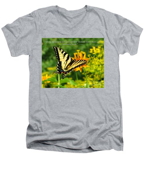 Sitting Pretty Giving Men's V-Neck T-Shirt