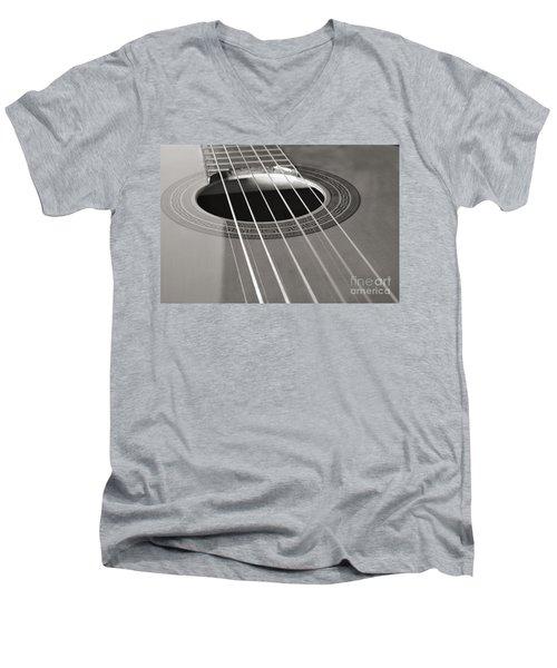 Six Guitar Strings Men's V-Neck T-Shirt by Angelo DeVal