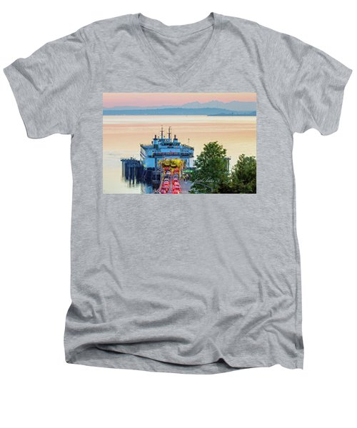 Six O'clock Ferry.2 Men's V-Neck T-Shirt