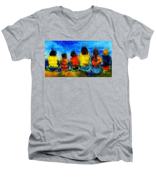 Six On The Shore  Men's V-Neck T-Shirt