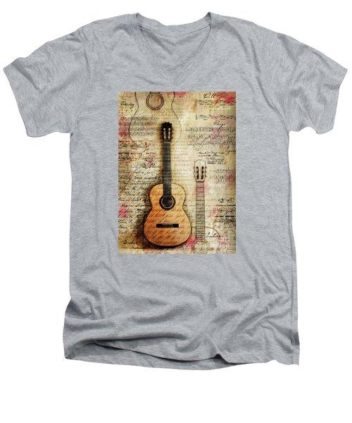 Six String Sages Men's V-Neck T-Shirt by Gary Bodnar