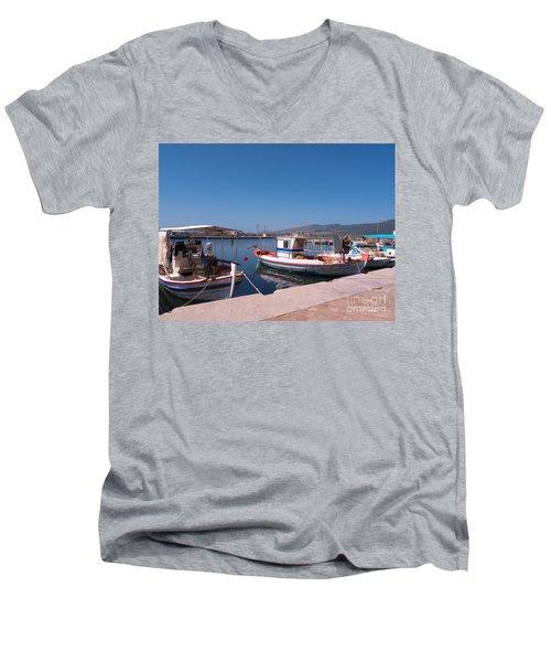 Skala Kalloni Lesvos Men's V-Neck T-Shirt