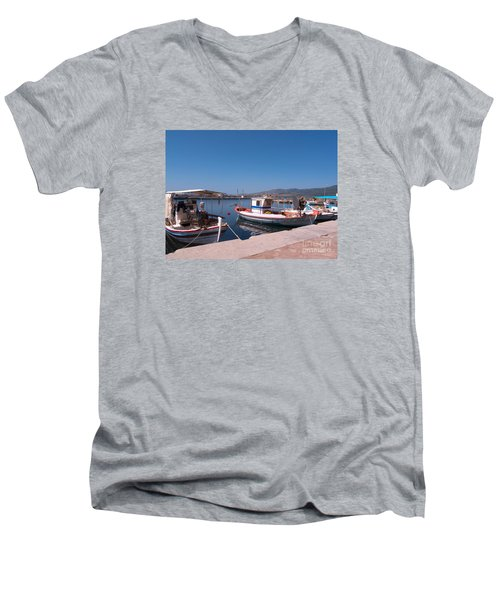 Skala Kalloni Lesvos Men's V-Neck T-Shirt