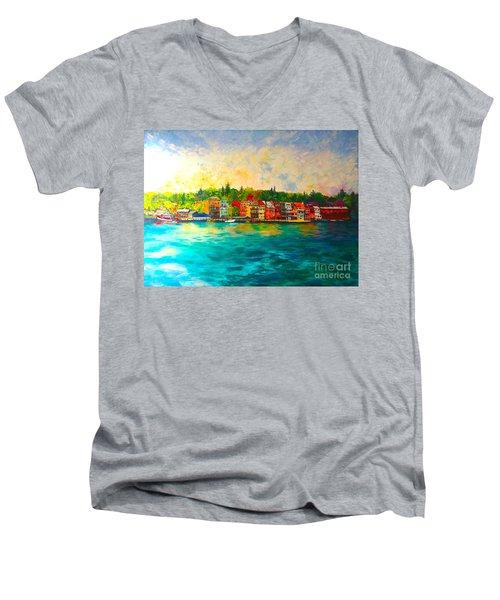 Skaneateles Men's V-Neck T-Shirt