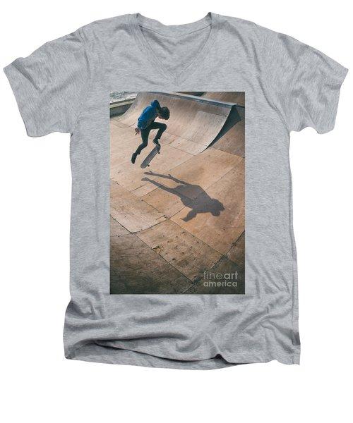 Skater Boy 001 Men's V-Neck T-Shirt