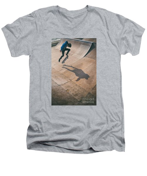 Skater Boy 001 Men's V-Neck T-Shirt