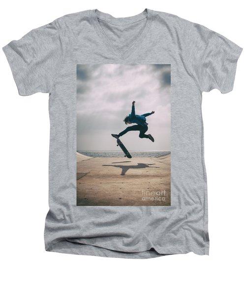 Skater Boy 003 Men's V-Neck T-Shirt