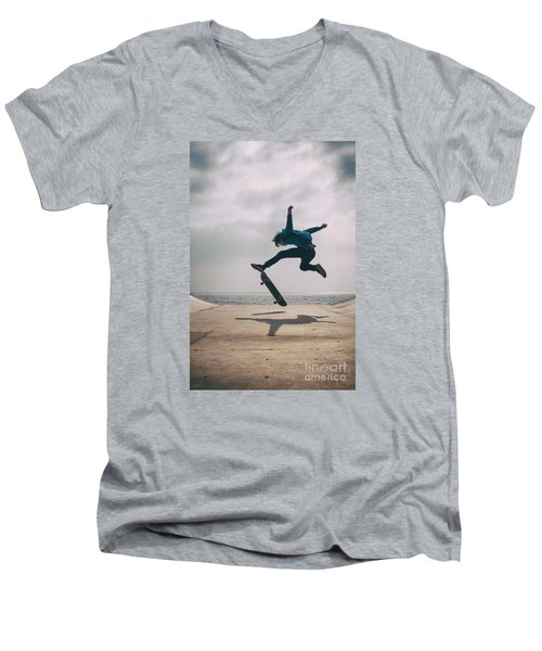 Skater Boy 003 Men's V-Neck T-Shirt