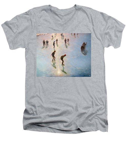 Skating In The Sunset  Men's V-Neck T-Shirt