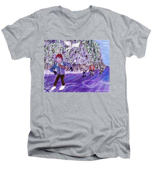 Skating On Thin Ice Men's V-Neck T-Shirt