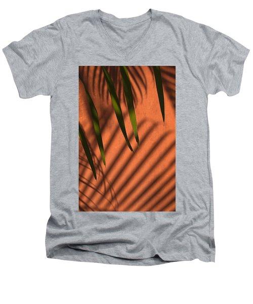 Skc 5521 Stripes Men's V-Neck T-Shirt by Sunil Kapadia