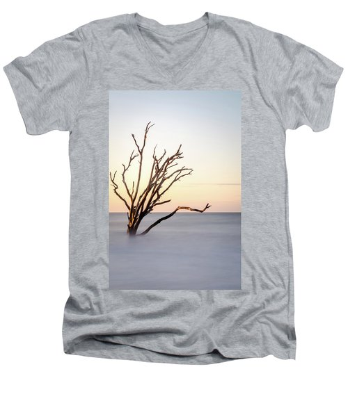 Skeleton Tree In The Ocean Men's V-Neck T-Shirt