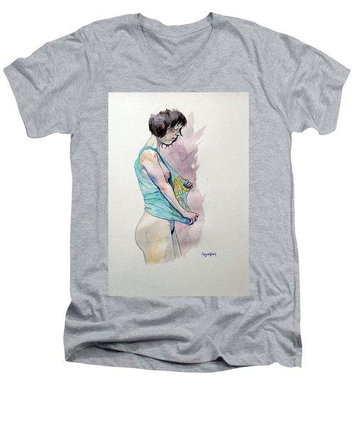 Sketch For Ac-dc Men's V-Neck T-Shirt