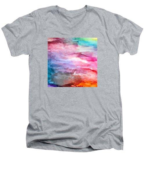 Skies Emotion Men's V-Neck T-Shirt