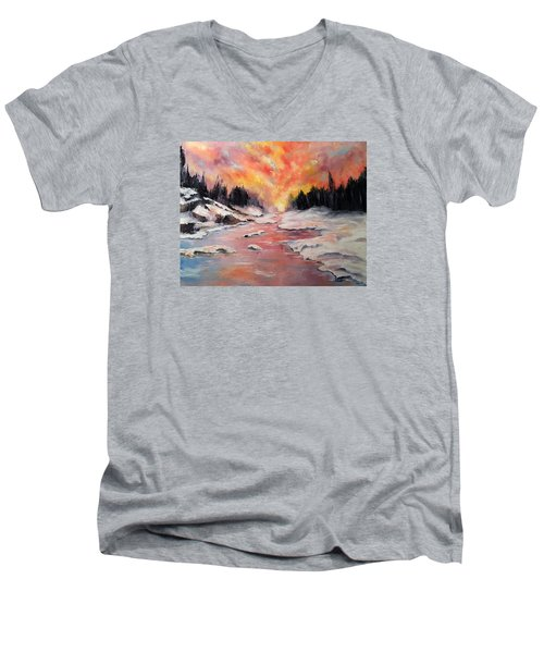 Skies Of Mercy Men's V-Neck T-Shirt by Meaghan Troup