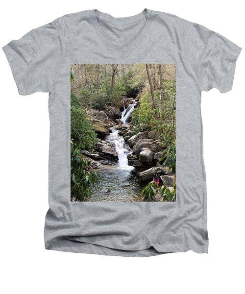 Skinny Dip Falls Men's V-Neck T-Shirt