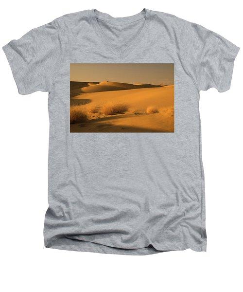 Skn 1124 The Desert Landscape Men's V-Neck T-Shirt by Sunil Kapadia