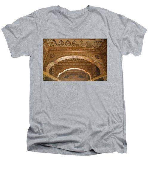 Skn 1248 The Miniature Art Men's V-Neck T-Shirt by Sunil Kapadia