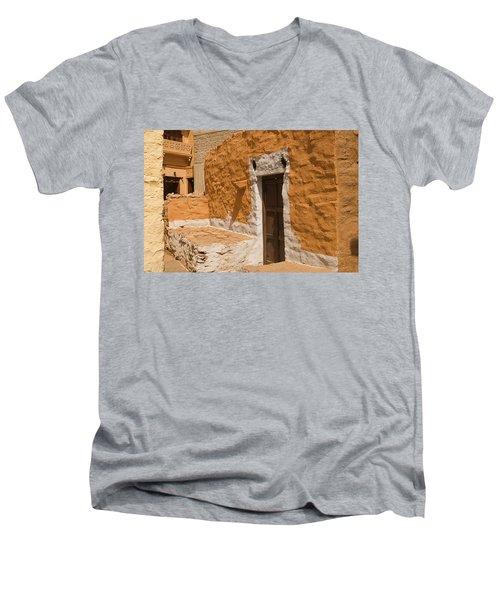 Skn 1264 The Thatched House Men's V-Neck T-Shirt by Sunil Kapadia