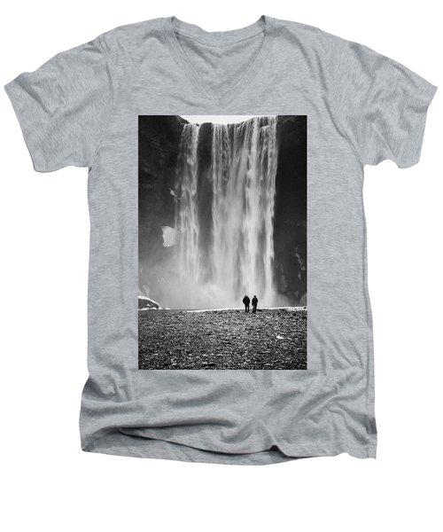 Skogafoss Men's V-Neck T-Shirt