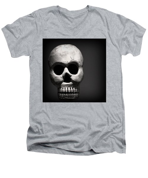 Skull Men's V-Neck T-Shirt by Joseph Skompski