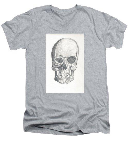 Skull Study 2 Men's V-Neck T-Shirt