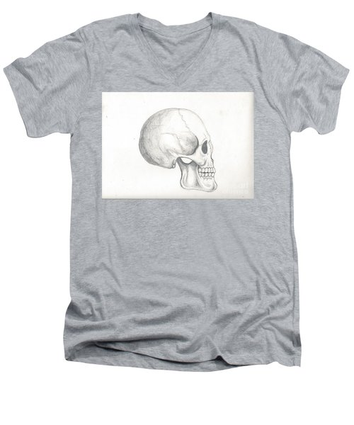 Skull Study Men's V-Neck T-Shirt