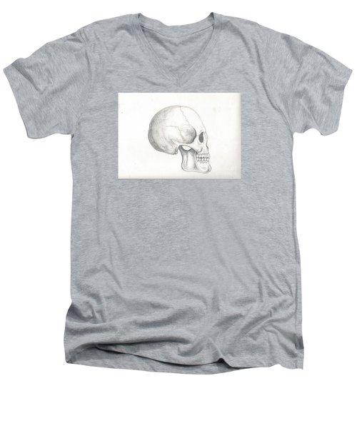 Skull Study Men's V-Neck T-Shirt