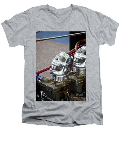 Men's V-Neck T-Shirt featuring the photograph Skully by Chris Dutton