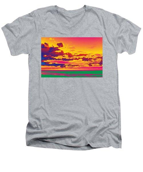 Sky #1 Men's V-Neck T-Shirt