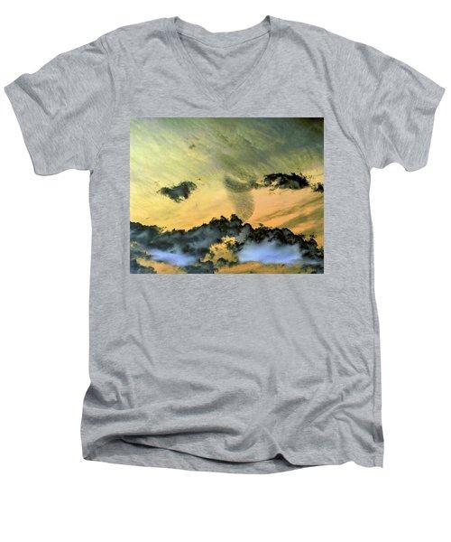 Cloud Art Inverted Colors Men's V-Neck T-Shirt