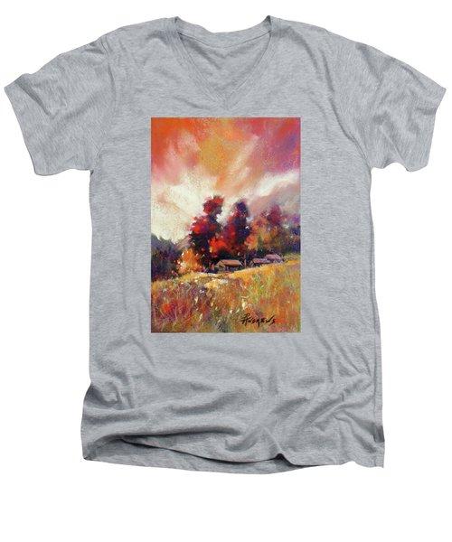 Sky Fall Men's V-Neck T-Shirt by Rae Andrews