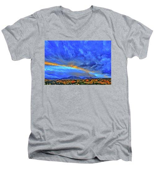 Men's V-Neck T-Shirt featuring the photograph Sky Fall by Scott Mahon