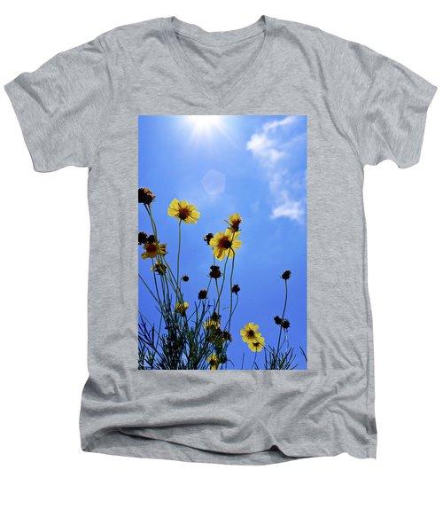 Sky Flowers Men's V-Neck T-Shirt