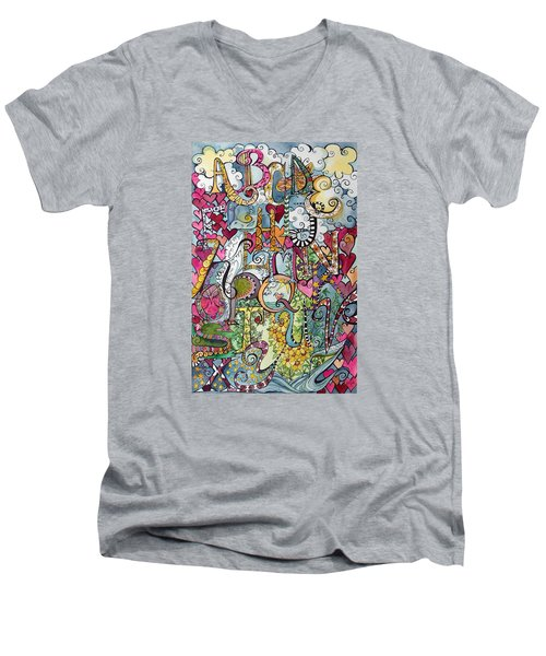 Sky Garden Men's V-Neck T-Shirt