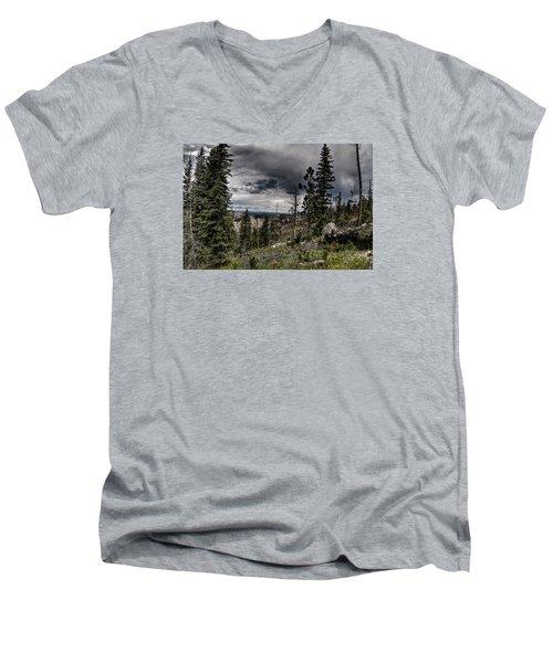 Men's V-Neck T-Shirt featuring the photograph Sky-high by Deborah Klubertanz