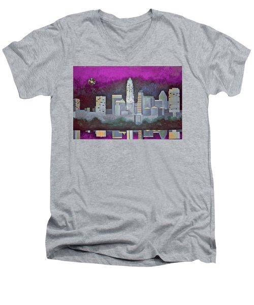 Sky Line Men's V-Neck T-Shirt