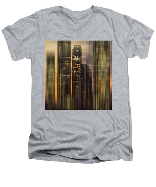 Men's V-Neck T-Shirt featuring the photograph Sky Scrapers by Vladimir Kholostykh