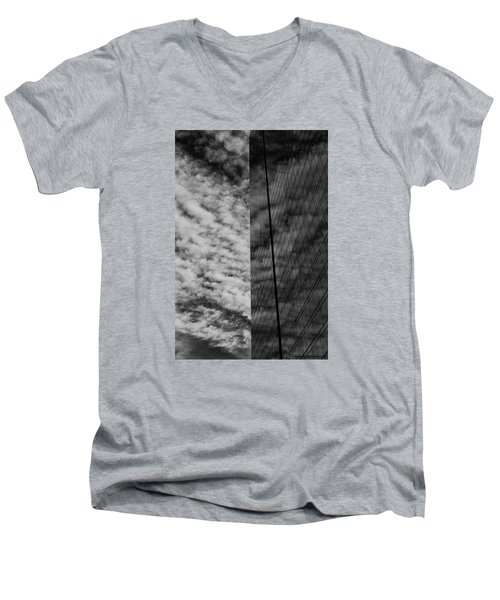 Men's V-Neck T-Shirt featuring the photograph Sky Show by Lora Lee Chapman