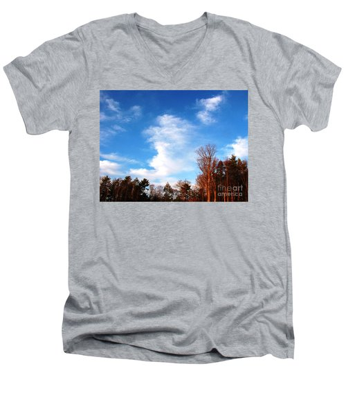 Sky Study 1 3/11/16 Men's V-Neck T-Shirt by Melissa Stoudt
