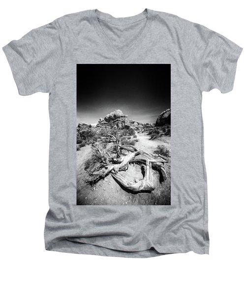 Skyline Arch In Arches National Park Men's V-Neck T-Shirt
