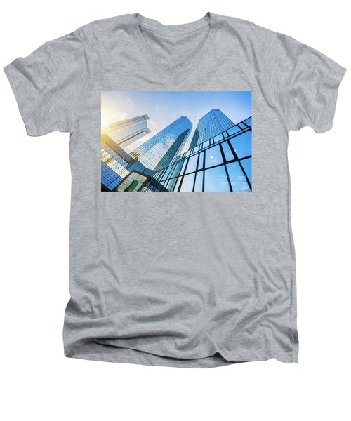 Skyscrapers Men's V-Neck T-Shirt by JR Photography