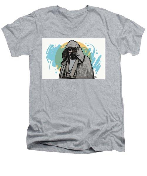 Men's V-Neck T-Shirt featuring the digital art Skywalker Returns by Antonio Romero