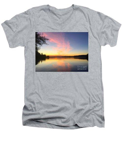 Slack Tide Men's V-Neck T-Shirt by Sean Griffin