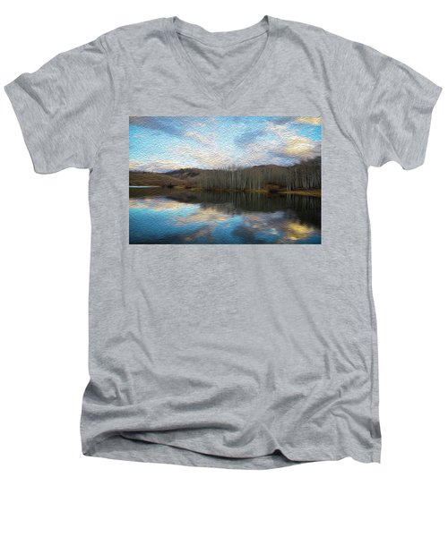 Slack Weiss Lake Men's V-Neck T-Shirt
