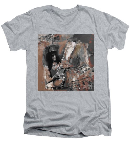 Slash Guns And Roses  Men's V-Neck T-Shirt