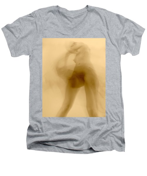 Men's V-Neck T-Shirt featuring the photograph Sleep Walker 2 Variation by Joe Kozlowski