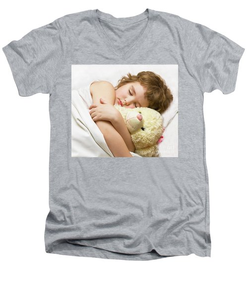 Sleeping Boy Men's V-Neck T-Shirt by Irina Afonskaya