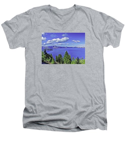 Men's V-Neck T-Shirt featuring the photograph Sleeping Wizard by Nancy Marie Ricketts