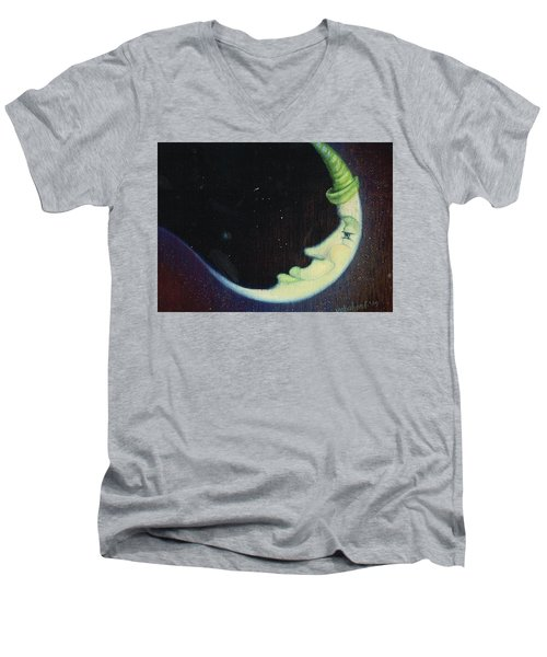 Sleepy Moon's Twin Brother Men's V-Neck T-Shirt